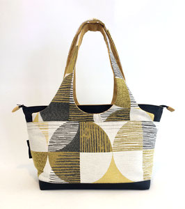 Shopper MM Tissu grands ronds jaunes