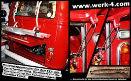Motorklappenfeder für den VW T1 mit breiter Heckklappe und den T2a mit Zwischenrastung