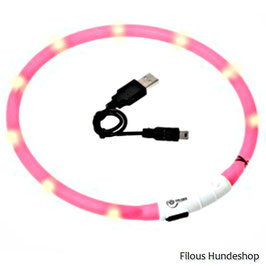 Karlie VISIO LIGHT LED HALSBAND, Farbe : pink