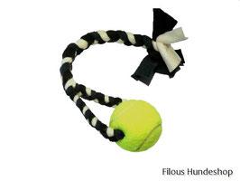 Fleece-Spielzeug geflochten mit Ball