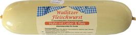 Wallitzer Fleischwurst Huhn mit Leber und Reis 400g