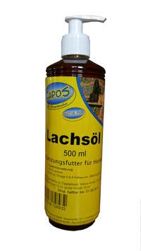 Lachsöl 500ml mit Dosierpumpe für Hunde und Katzen