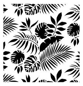 Posh Chalk Stencil Tropical Leaves 50x50cm
