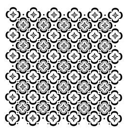 Posh Chalk Stencil Floor Tile 50x50cm
