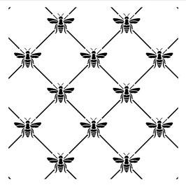 Posh Chalk Stencil Bee POSHitive 30x30cm