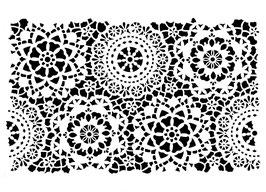 Posh Chalk Stencil Posh Hippy Lace (small) 35x49cm