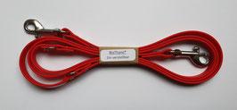 """BioThane® Führleine verstellbar """"rot"""" 2m (geschraubt)"""