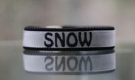Halsband Gurtband Silber - bestickt 2cm