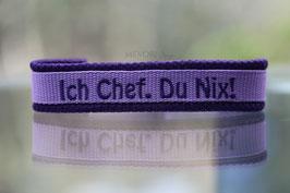 Halsband Gurtband Flieder - bestickt 2cm