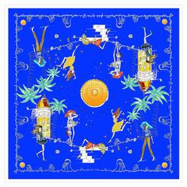 CARRE Bleu Azur Les French Riviera Girls