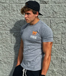 Garbear Fitness | Original Fitted T Shirt - Grey