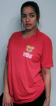 Garbear Fitness | Original Fitted T Shirt | Series 2 - Heather Red