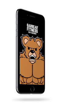 GARBEAR FITNESS CELL PHONE WALLPAPER - Series 1 Version 1