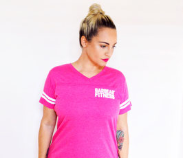 Garbear Fitness | Vintage Sports Text Shirt | Pink