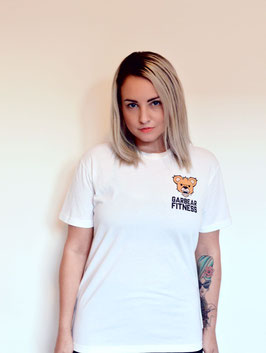 Garbear Fitness | Original Fitted T Shirt - White