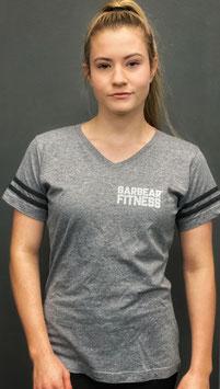 Garbear Fitness | Vintage Sport Text Shirt | Heather Grey