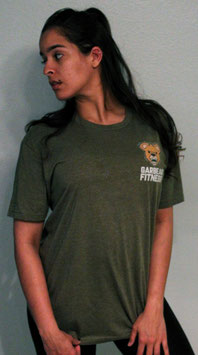 Garbear Fitness | Original Fitted T Shirt | Series 2 - Heather Military Green