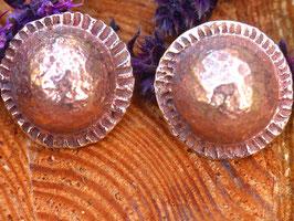Boucles d'oreilles rondes demi boules pour oreilles percées