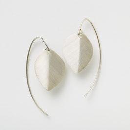 Zilveren oorbellen Bladvorm