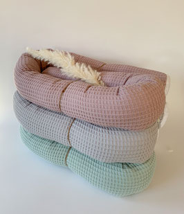 Bett/Kinderwagenschlange Waffelpique
