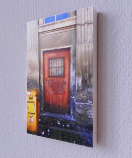 Orangene Tür