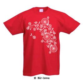 Fahrrad Turm Kinder T-Shirt in Rot