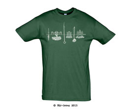 Berlin Skyline T-Shirt · flaschengrün