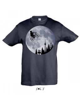 Mondfahrer Kinder T-Shirt in heather denim