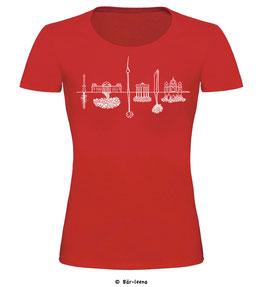 Skyline T-shirt · rot · Frauenschnitt
