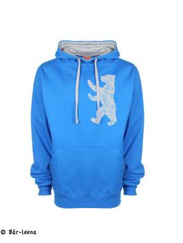 Bär Hoodie in Sapphire blau / grau