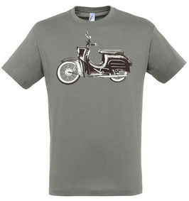 Moped Kinder T-Shirt in Grau