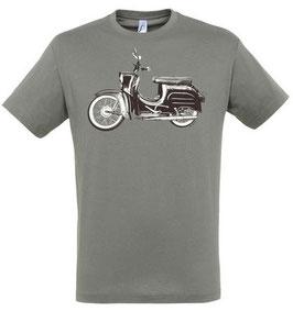 Moped Kinder T-Shirt in Grau