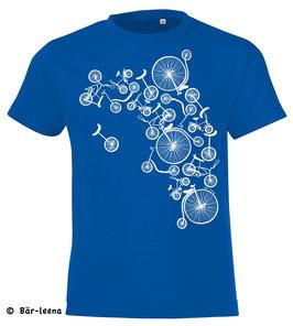 Fahrrad Turm Kinder T-Shirt in Blau