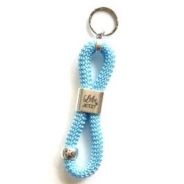 Schlüsselanhänger Lebe Jetzt hellblau