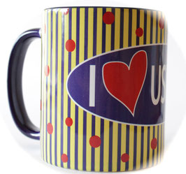 Tasse I Love Usingen Blau