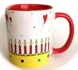 Tasse mit Torte