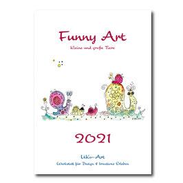 Wand-Kalender 2021 Din a5, Funny Art - lustige Tiere