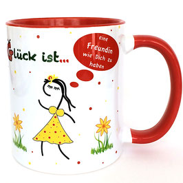 Tasse Glück ist...eine Freundin wie Dich zu haben