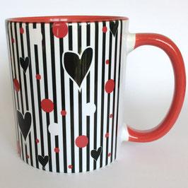 Bunte Kaffeebecher Heartbeat