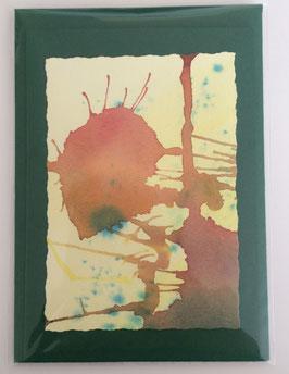 Kunstkarte 2 grün
