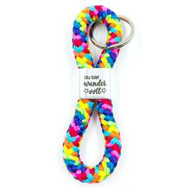 Schlüsselanhänger Du bist wundervoll, Basic in 24 Farben