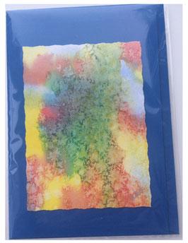 Kunstkarte 11 blau