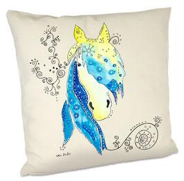 Kissen mit Pferd Blue Sunshine