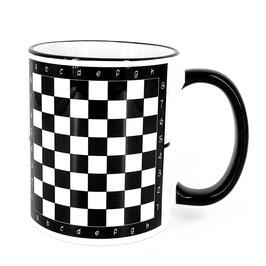 Tasse für Schachspieler mit König weiß