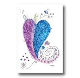 Grußkarte Herz Funny-Art