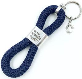 Schlüsselanhänger Du bist wundervoll, Premium + Engel, in 24 Farben