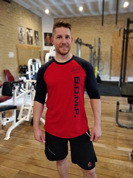 "T-SHIRT UNISEXE TYPE BASEBALL MANCHE 3/4 Gamme ""Fitness Farm"""