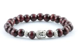 Buddha Armband Dunkelrot Holz