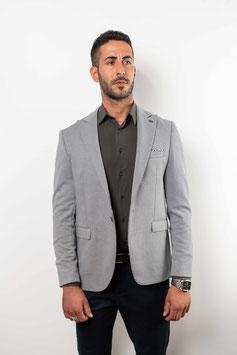Extra Slim fit, grauer Blazer mit Linienmuster