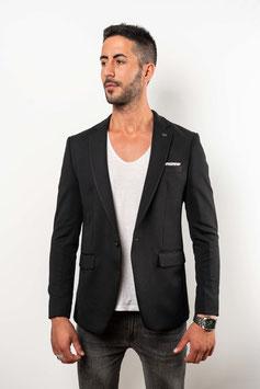 Extra Slim fit Blazer in schwarz mit Mikrostruktur